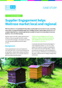 Supplier Engagement helps Waitrose market local and regional