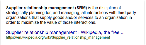 Supplier Relationship Management definition