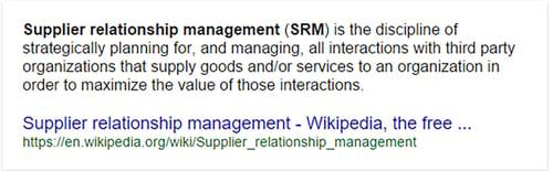 Supplier Relationship Management definition